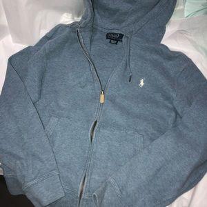 Mens polo ralph lauren sweater hoode zip